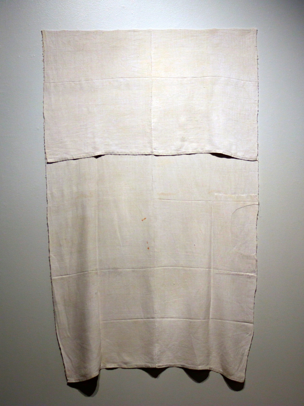 Composition (figure 68),   handwoven antique linen, 2015