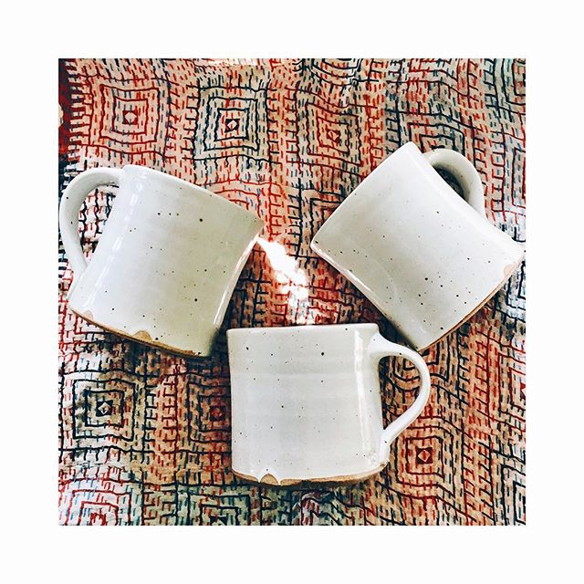 Sad math for you: Three cups of decaf coffee do not equal the joy of one fully-caffeinated one (though it does help if the three are handmade mugs). Trying to stick to my new early morning schedule, which means not having coffee late in the day, which is very tough.