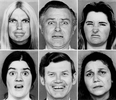 Image from Paul Ekman's classic studies on emotion and facial expression.