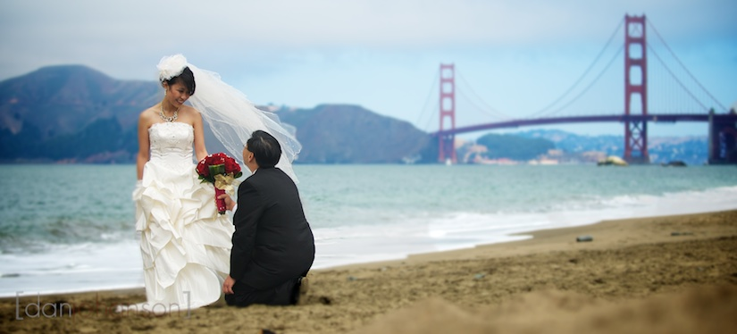baker beach chinese wedding