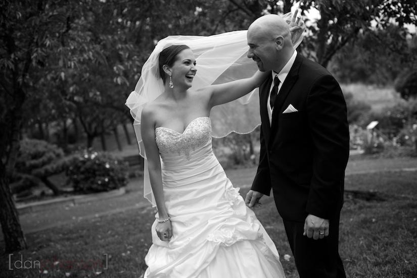 wedding portraits at the gardens in walnut creek