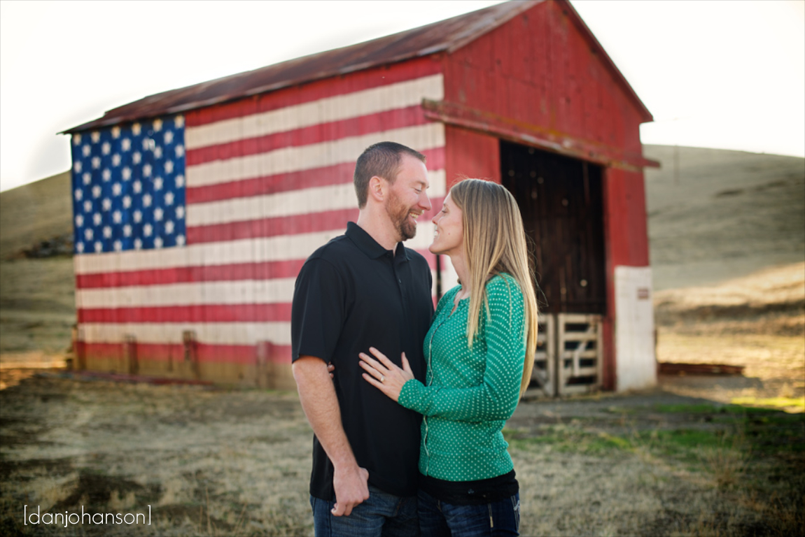 vasco barn engagement portrait