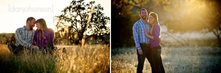 sunset engagement portrait in brentwood