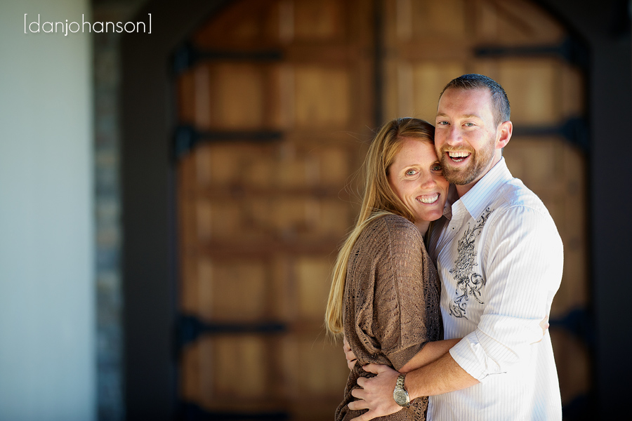 couple having portrait at pleasanton winery