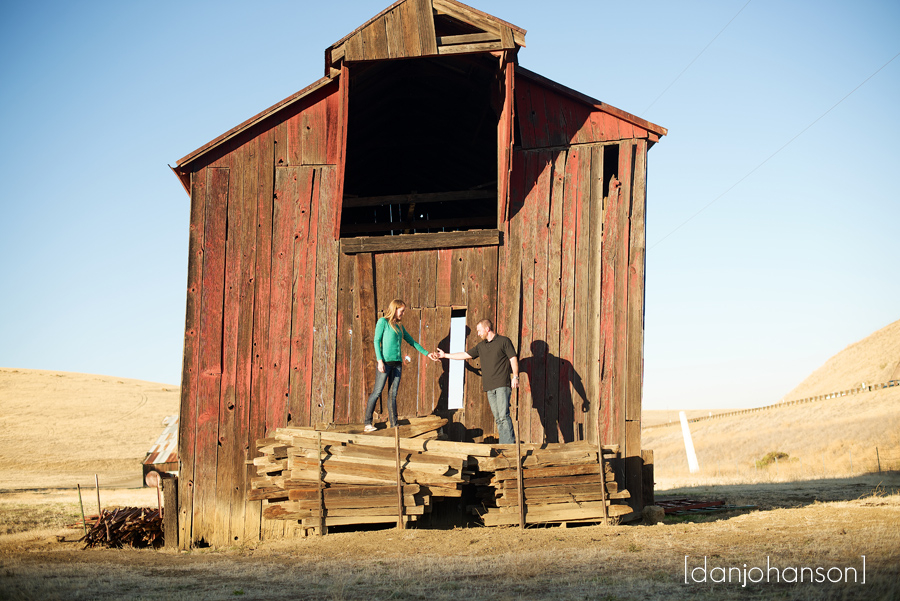 old barn engagement session