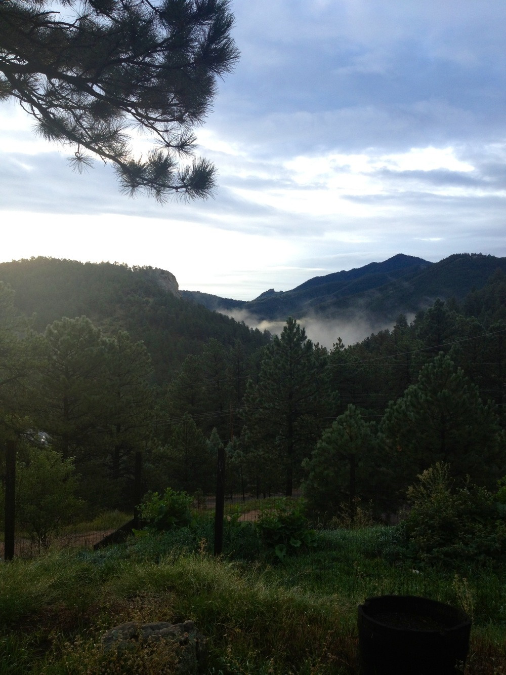 View from Boulder Canyon house, just before the flood