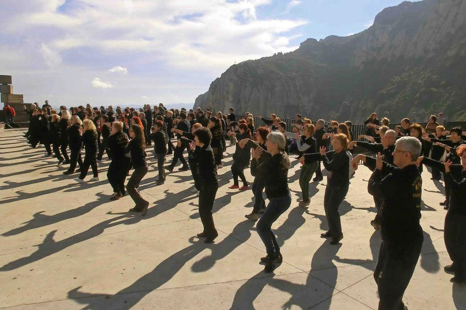 Once you learn the set, you can doTai Chi anywhere.Here's the  Taoist Tai Chi Society  practicingin Spain.