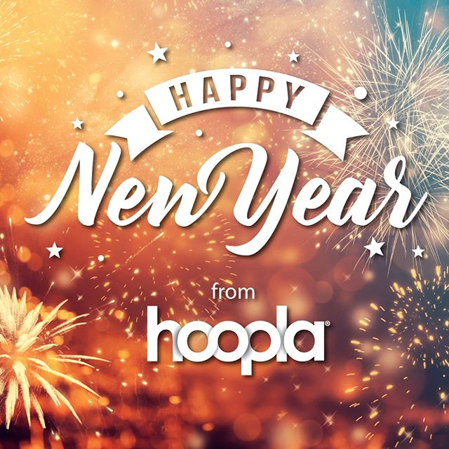 #HappyNewYear from #hoopla! We hope your year is full of everything you wish... and lots of reading!