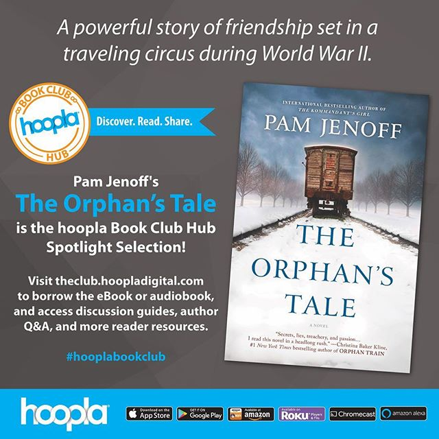 Our new #hooplabookclub spotlight title is THE ORPHAN'S TALE by @pamjenoff! Head over to the club hub for discussion guides, author interviews, and more! (•link in bio•) #bookish #bookclub #bookstagram #bookshelf