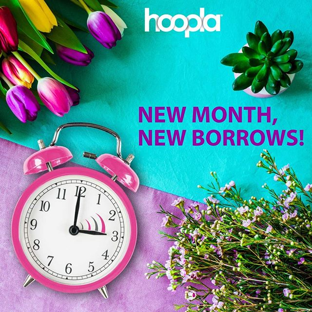 Happy first day of March!! Borrows have reset! What are you borrowing first?  #NewMonth #NewBorrows #FridayFeeling #amreading #amlistening #bookish #hoopladigital