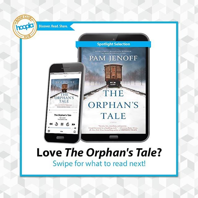 So you've read THE ORPHAN'S TALE  by @pamjenoff? Wondering what to read next? Swipe to see what we recommend! #hooplabookclub #bookclub #bookish #WWII #recommendedreading #bookrecommendation