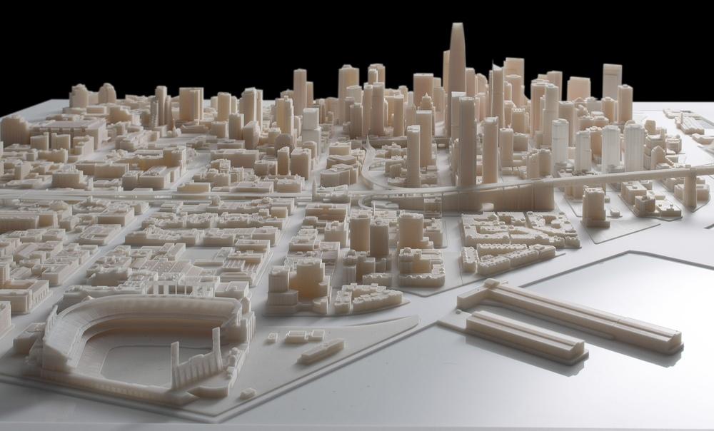 3D Print of San Francisco (1:1250, Verowhite, ~6' x ~6')