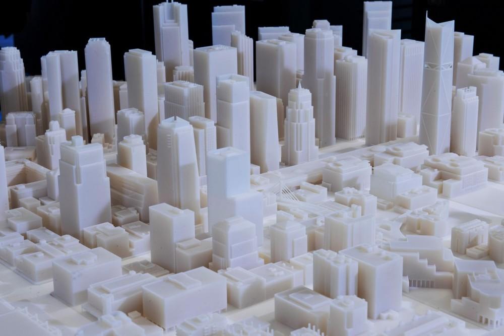 3D Print of San Francisco (1:1250, Verowhite)