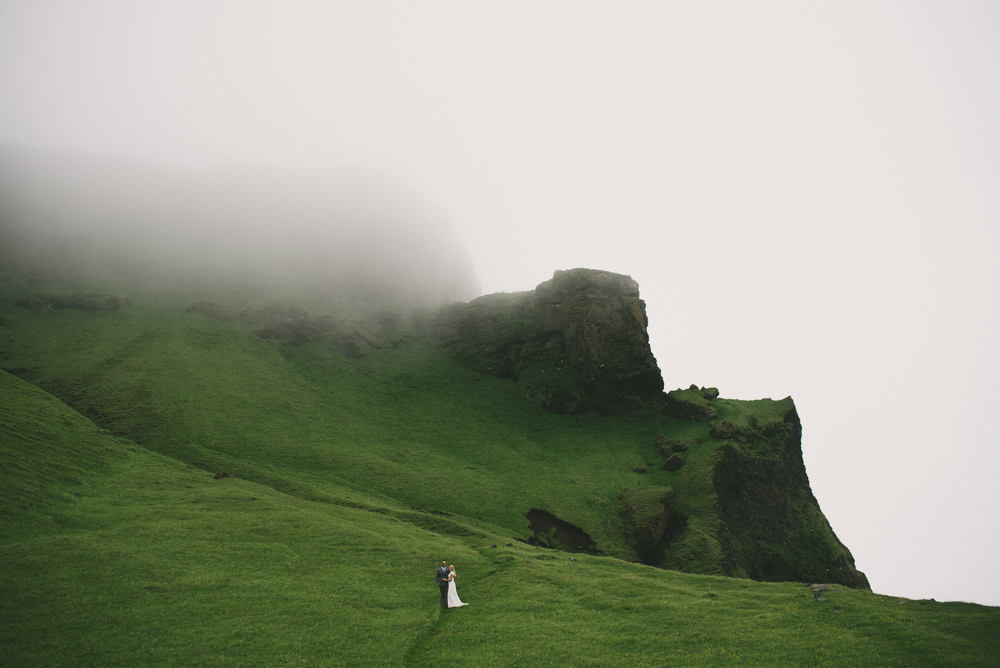 wedding photo Reynisfjara fog