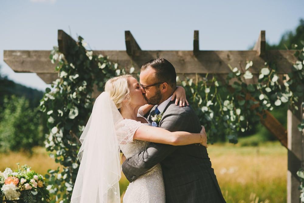 kiss vancouver island wedding