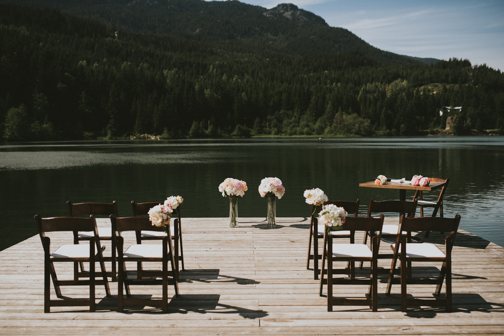 Nita Lake dock ceremony venue