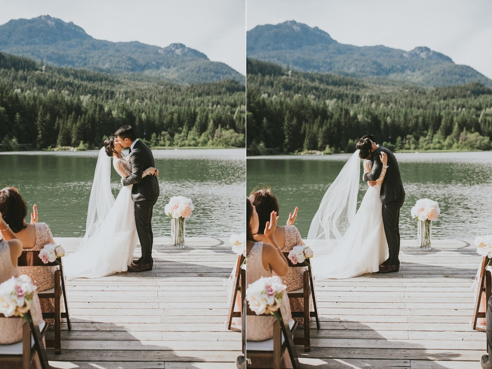 Whistler wedding kiss