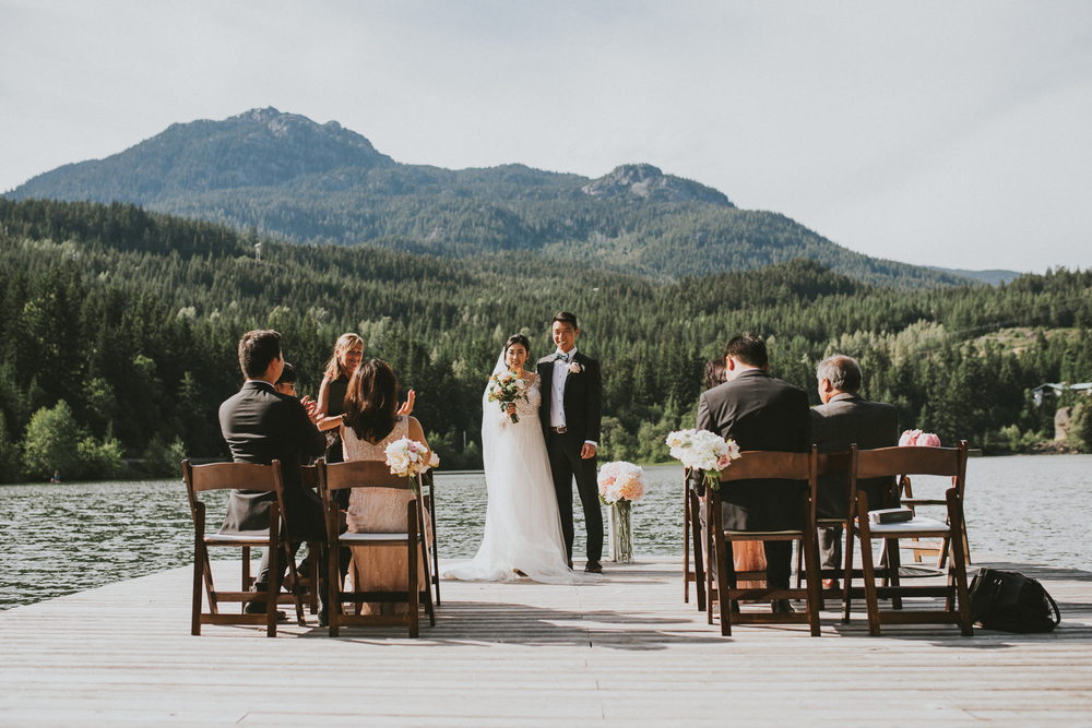 Nita Lake Whistler wedding ceremony