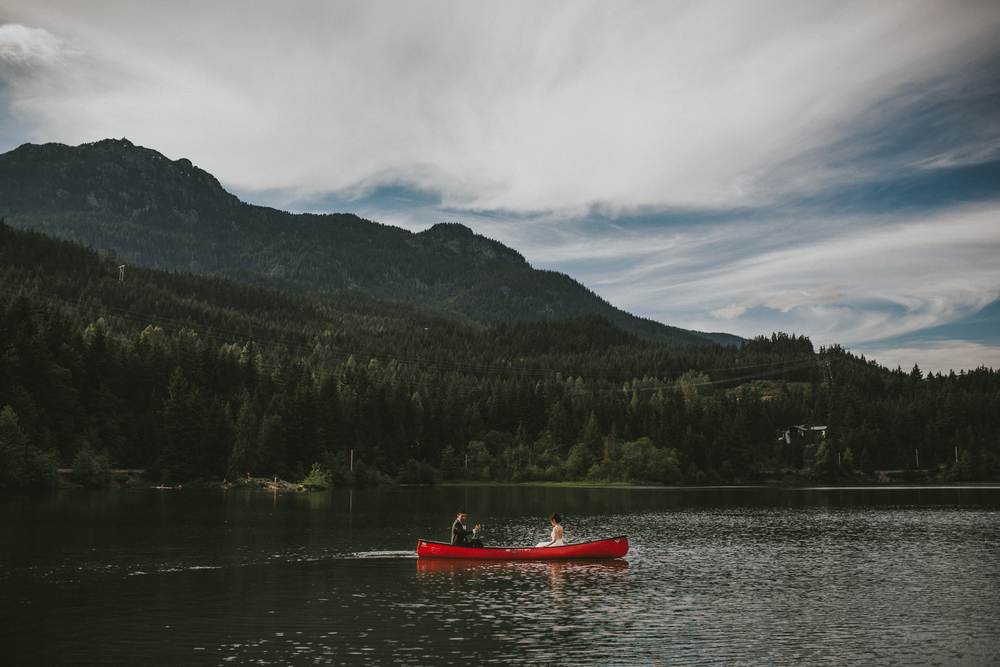 Whistler wedding canoe