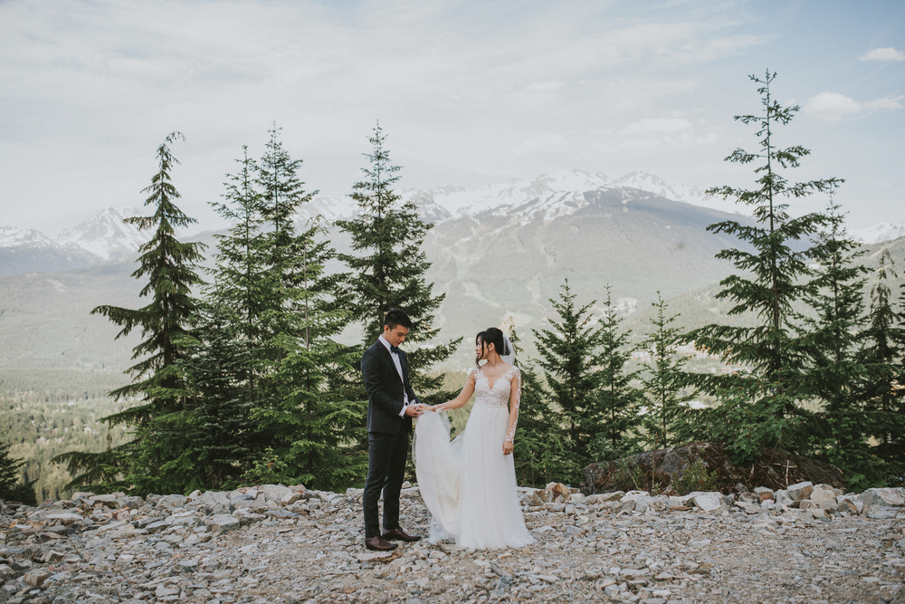 Whistler wedding bridal portraits