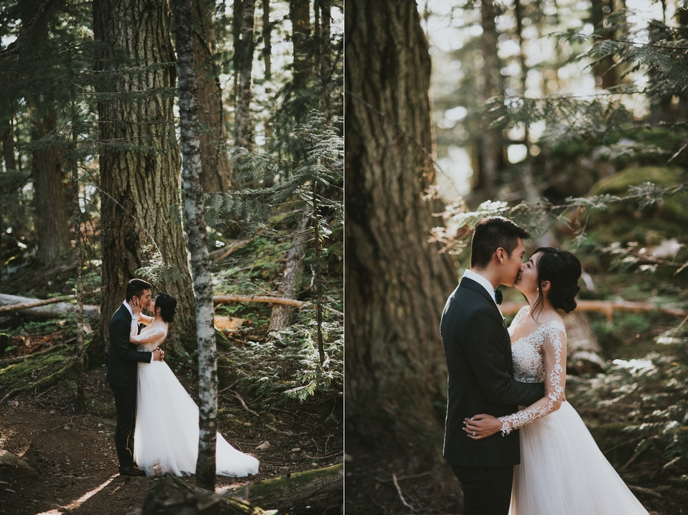 Whistler wedding forest portraits