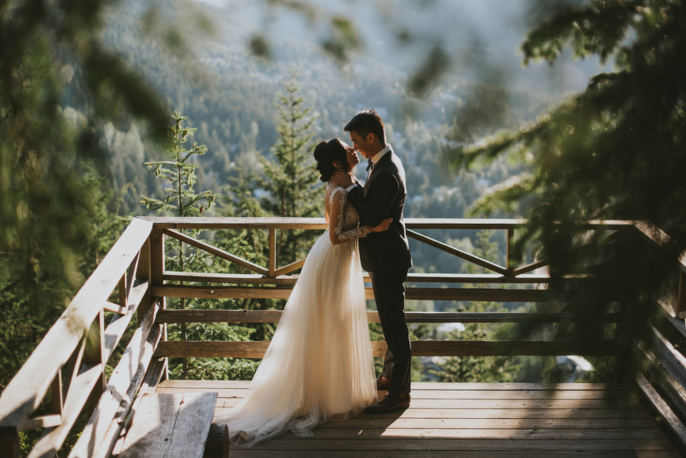 Whistler viewpoint wedding photo