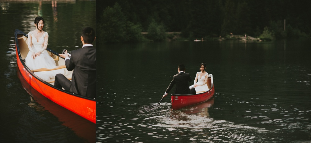 Nita Lake Whistler wedding canoe