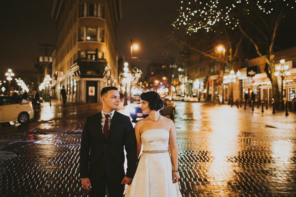 Gastown Wedding Night Photography