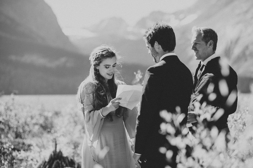 kananaskis bride vows groom elopement