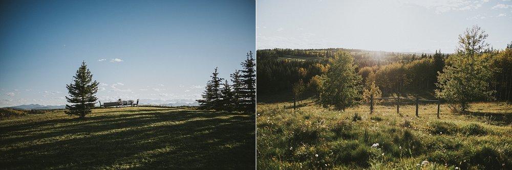 elopement kananaskis alberta field view