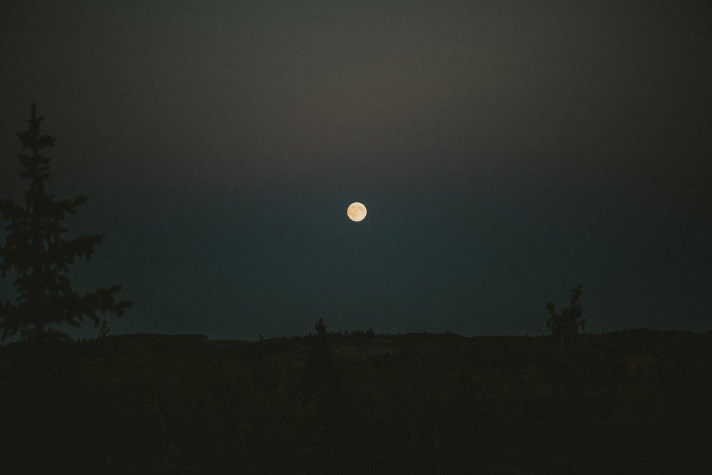 kananaskis moonlight night time elopement