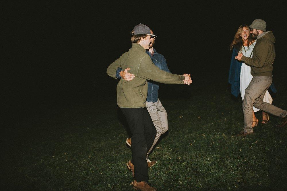 guest candid dancing laughing kananaskis elopement