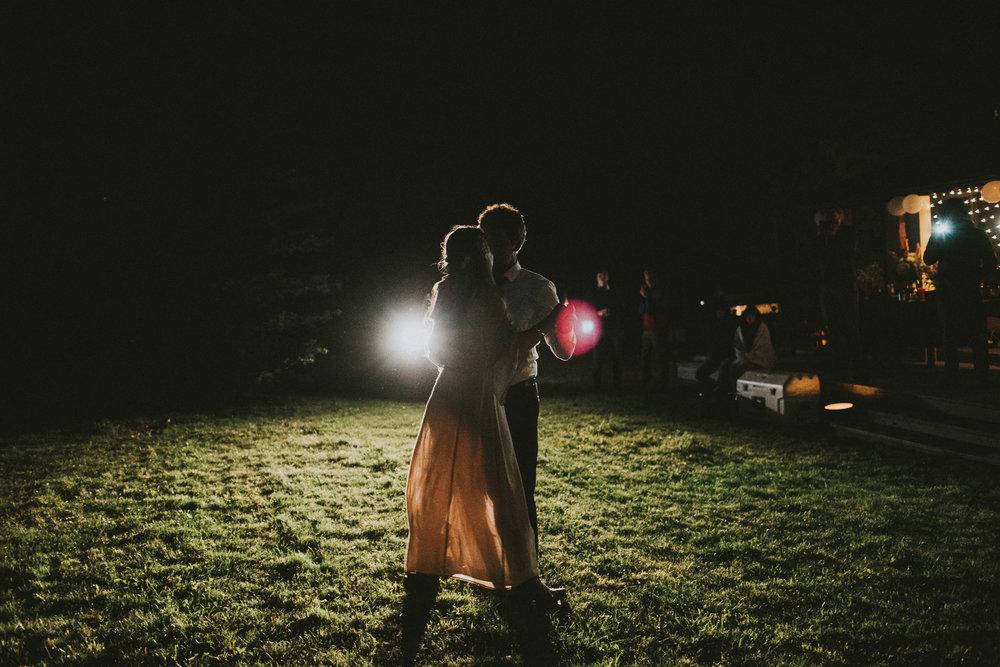 bride groom first dance reception kananaskis elopement