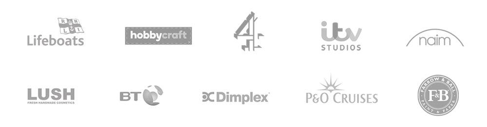 Pro Studio Hire Client Logos