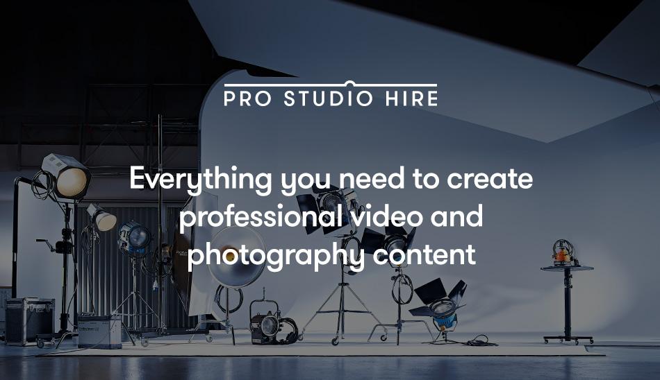 Pro Studio Hire Header
