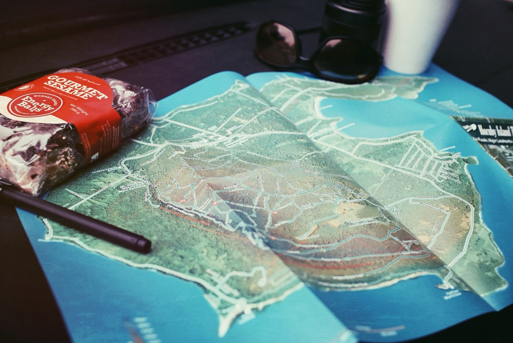 $5.00 Trail Map from Gas Station // Hornby Island // Nicholas Kupiak