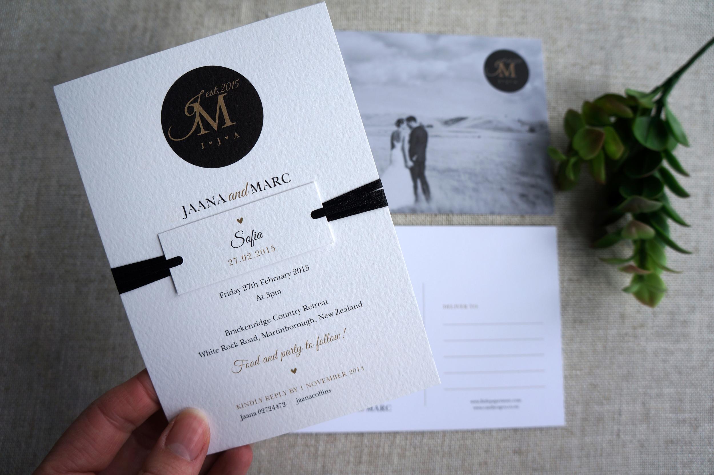 Custom wedding invitation wedding invitations little paper store dsc04835g monicamarmolfo Image collections