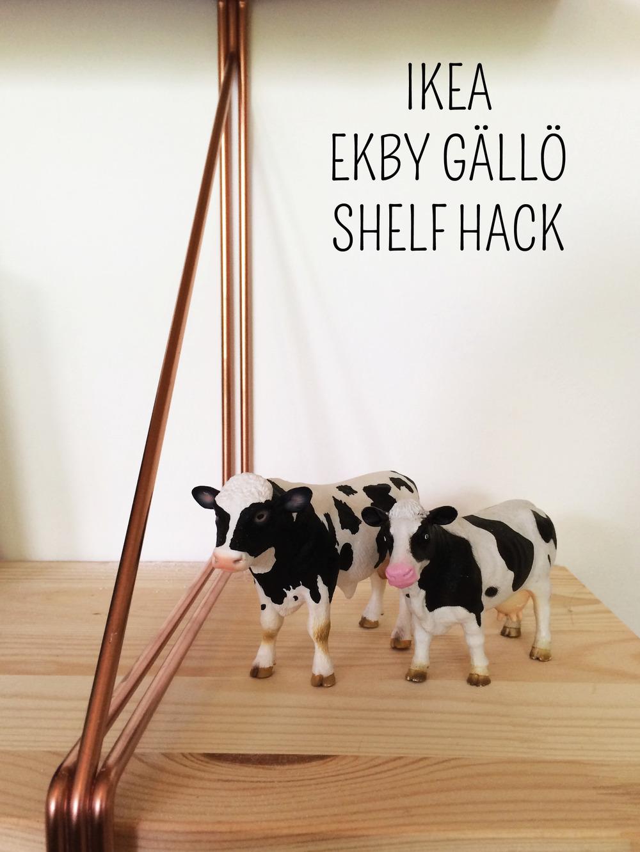 Ikea Ekby Gallo Shelf Hack | Title Cows | CAROLE + ELLIE