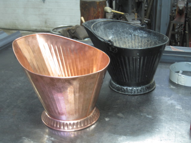custom tin copper pail bucket scuttle.JPG