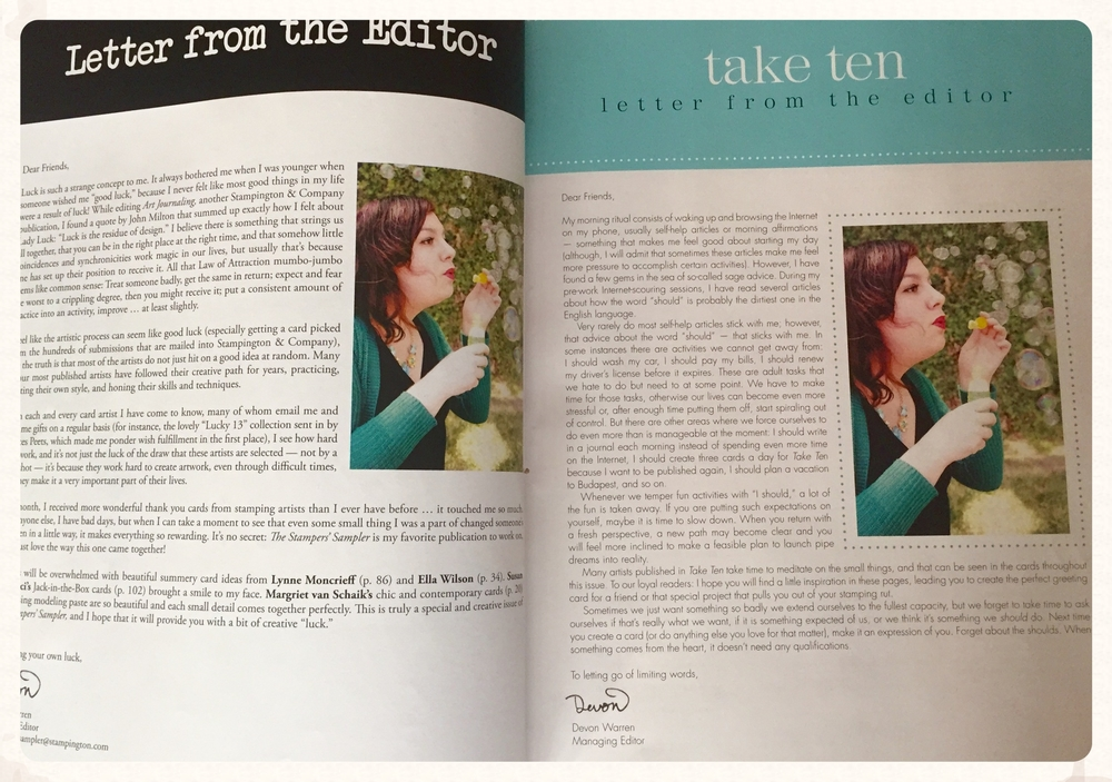 Devon Warren and her team continue to make changes and keep each issue exciting and fresh in both publications.