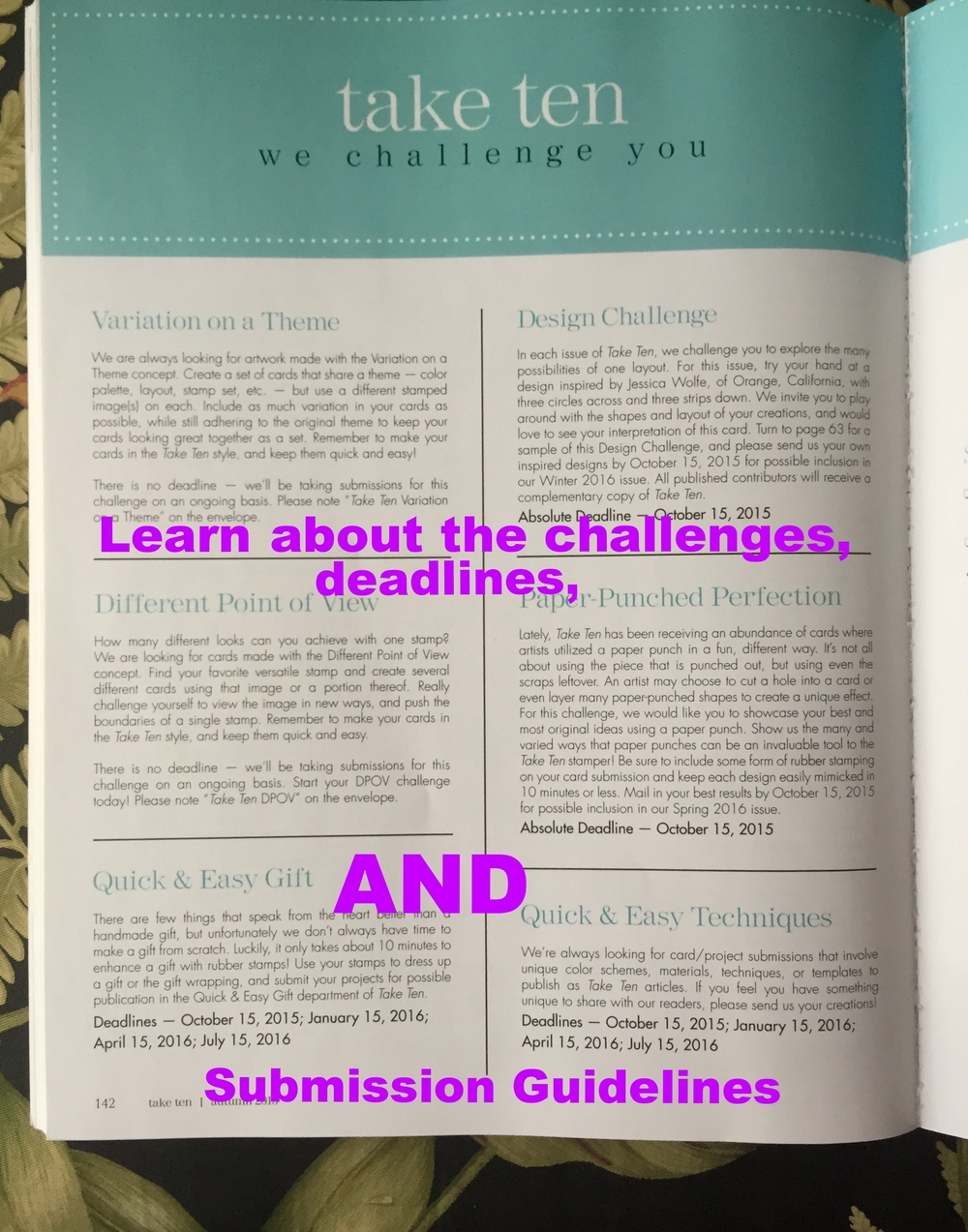 We Challenge You - Guidelines and Deadlines