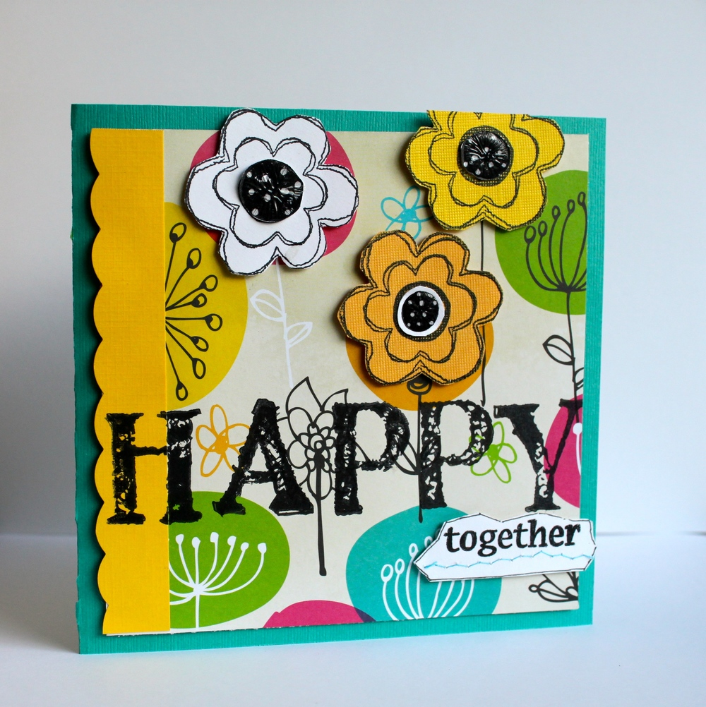 One of my handmade cards published as part of my guest artist spot in The Stampers' Sampler magazine.