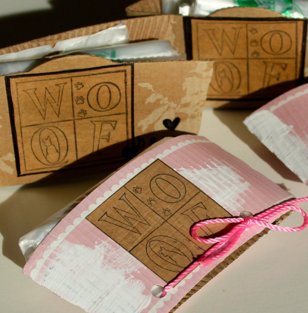 Coffee Sleeve Designer Woof Pick-up Bags
