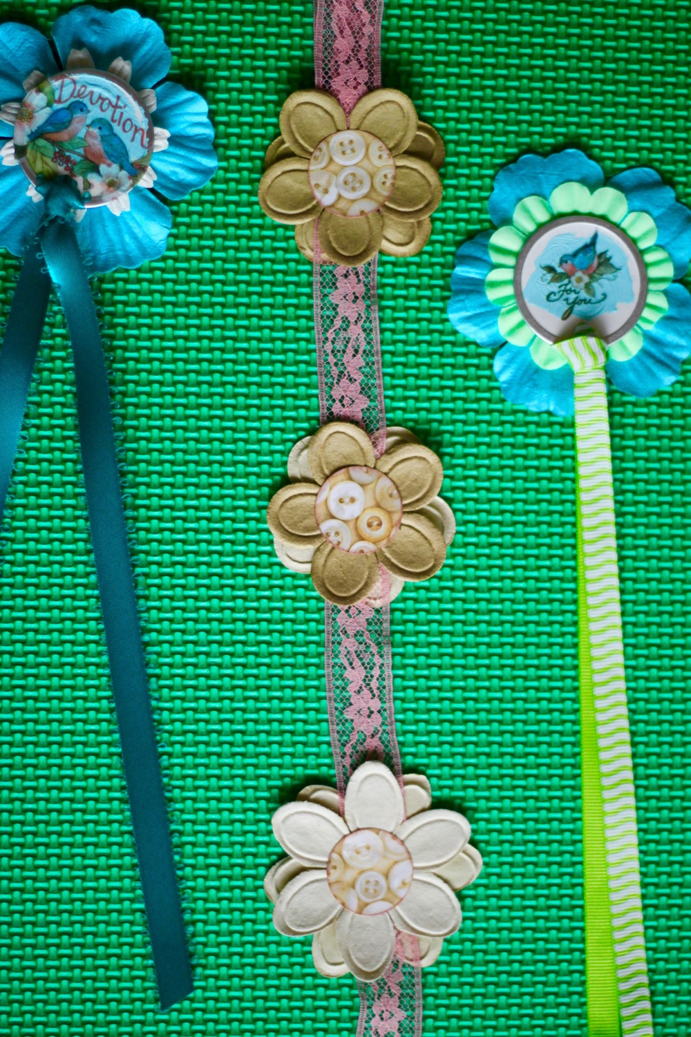 Tagged & Flowered Garden Book Marks