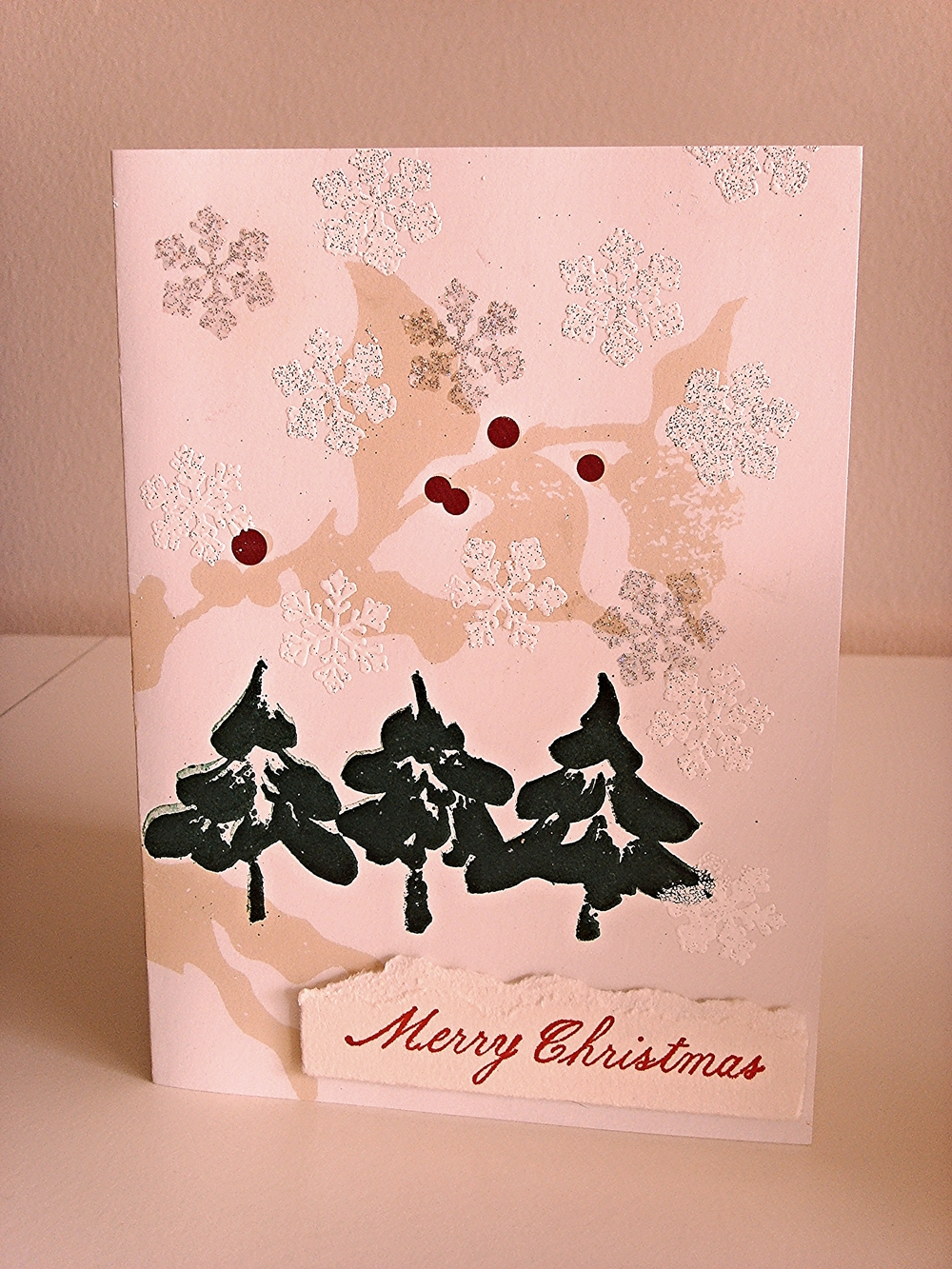 Up-Cycled Starbucks Mailer into Card