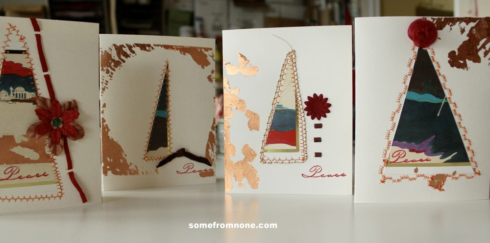 Last year's cards up-cycled