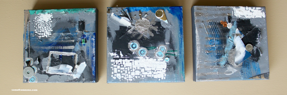 """Throw Away World"" 8"" X *8 Repositionable Art on Canvas"