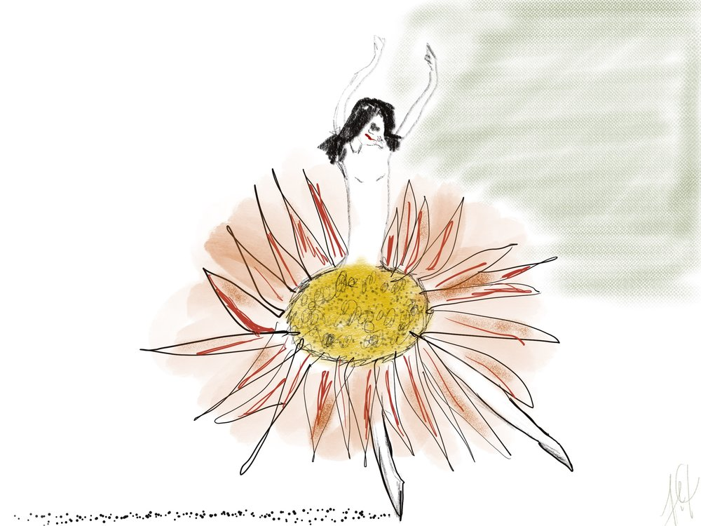 """Isn't She Lovely"" by Frances Peets - creative inspiration from the drawings of   Linda Wolfsgruber"