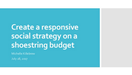 Create a Responsive Social Strategy on a Shoestring Budget