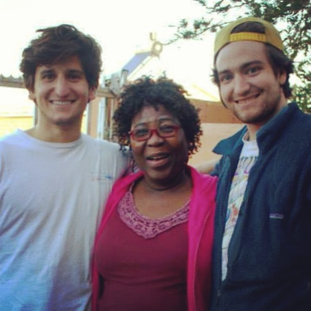 Chris Grava, Evelyn (Founder of the Home of Safety), and Nick Grava, Summer 2013
